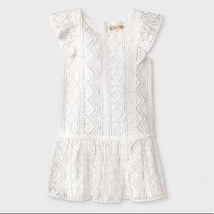 Genuine Kids OshKosh 3T Geometric Lace Dress EUC